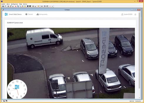 Low latency IP Camera video in the D2000 SCADA scheme